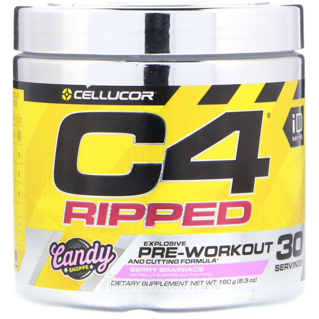 Cellucor C4 Ripped - 30 Servings - Berry Brainiacs
