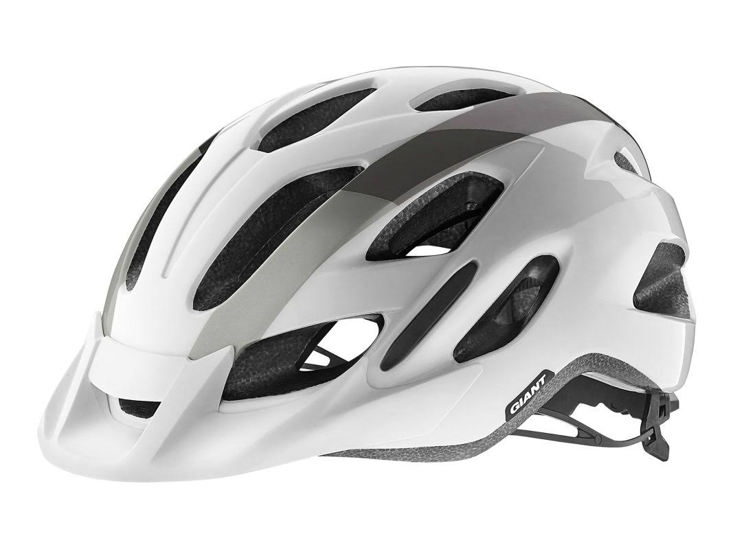 Giant Compel Helmet - White/Metallic - Medium/Large