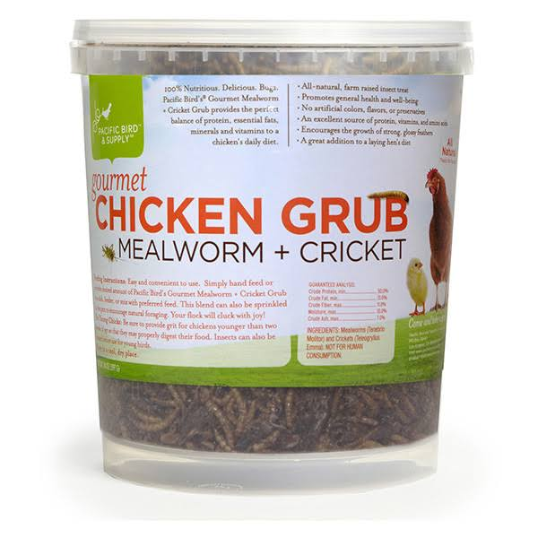 Pacific Bird and Supply Gourmet Chicken Grub Meal Worms - 14oz