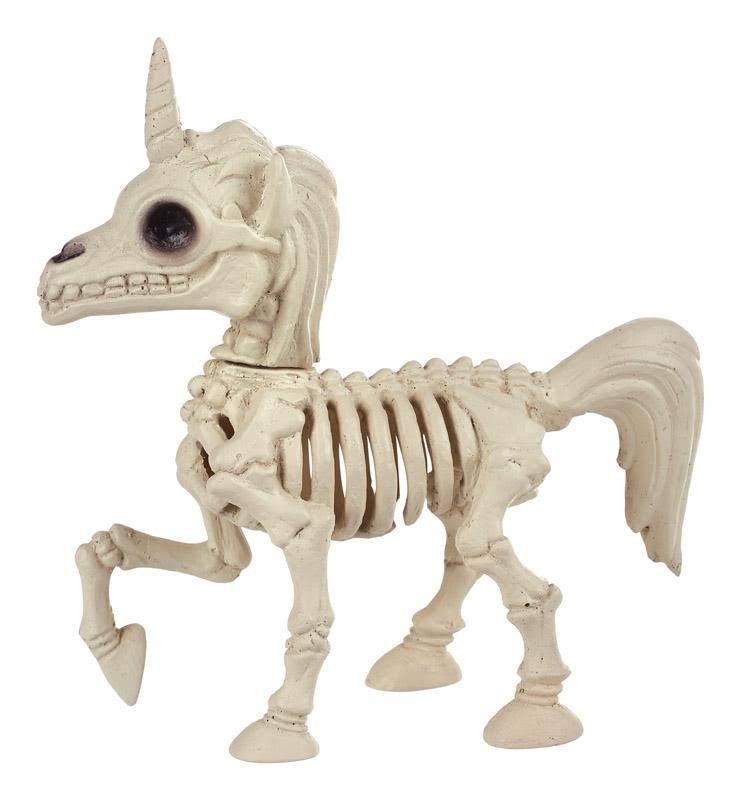 Seasons Halloween Decor, Skeleton Unicorn