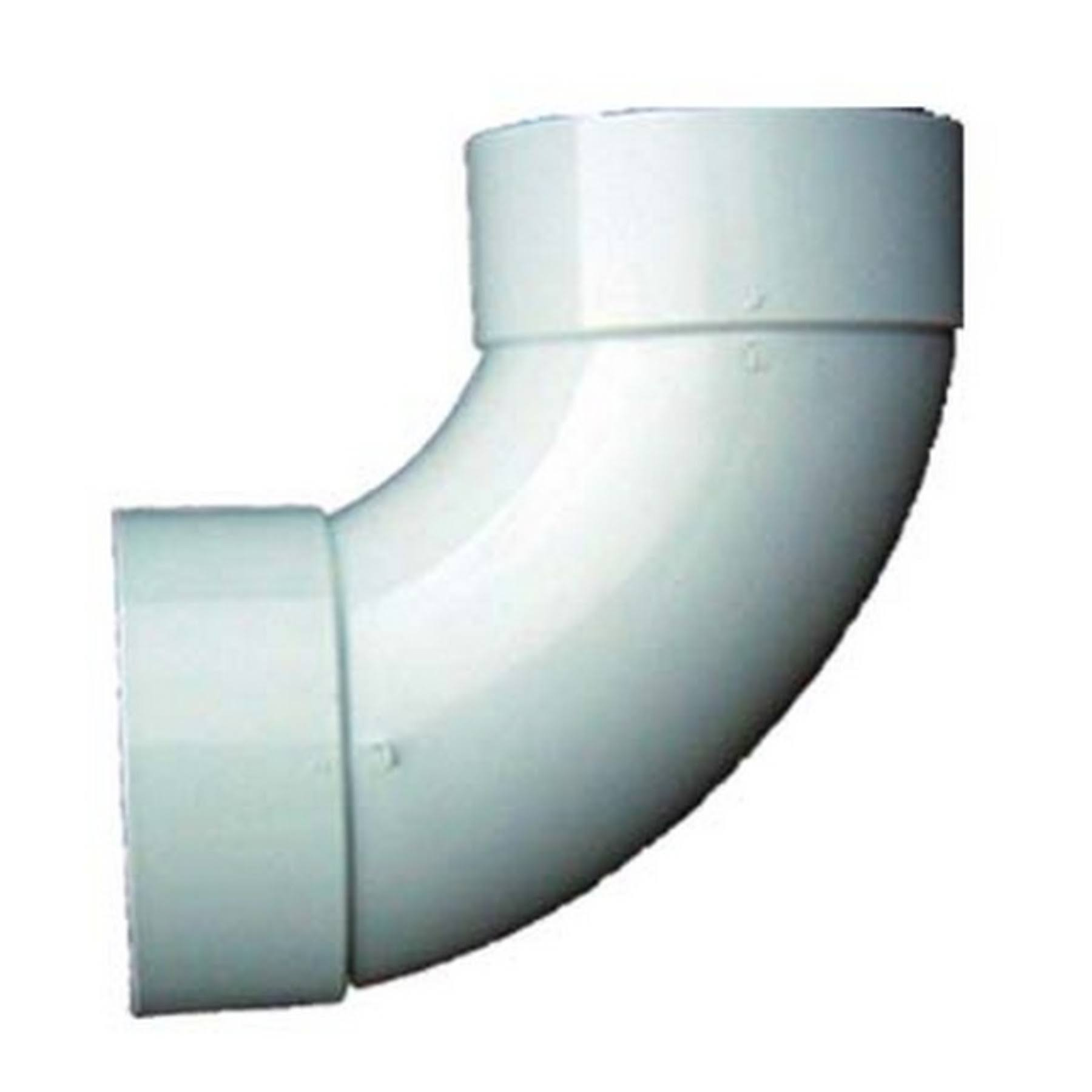 Genova Products PVC Sanitary Elbow - 90 Degree, 4""