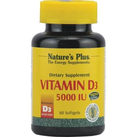 Natures Plus Vitamin D3 5000iu - 60 Softgels