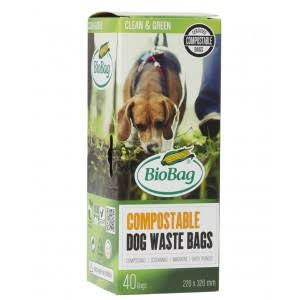 Biobag Compostable Dog Waste Bags - x40
