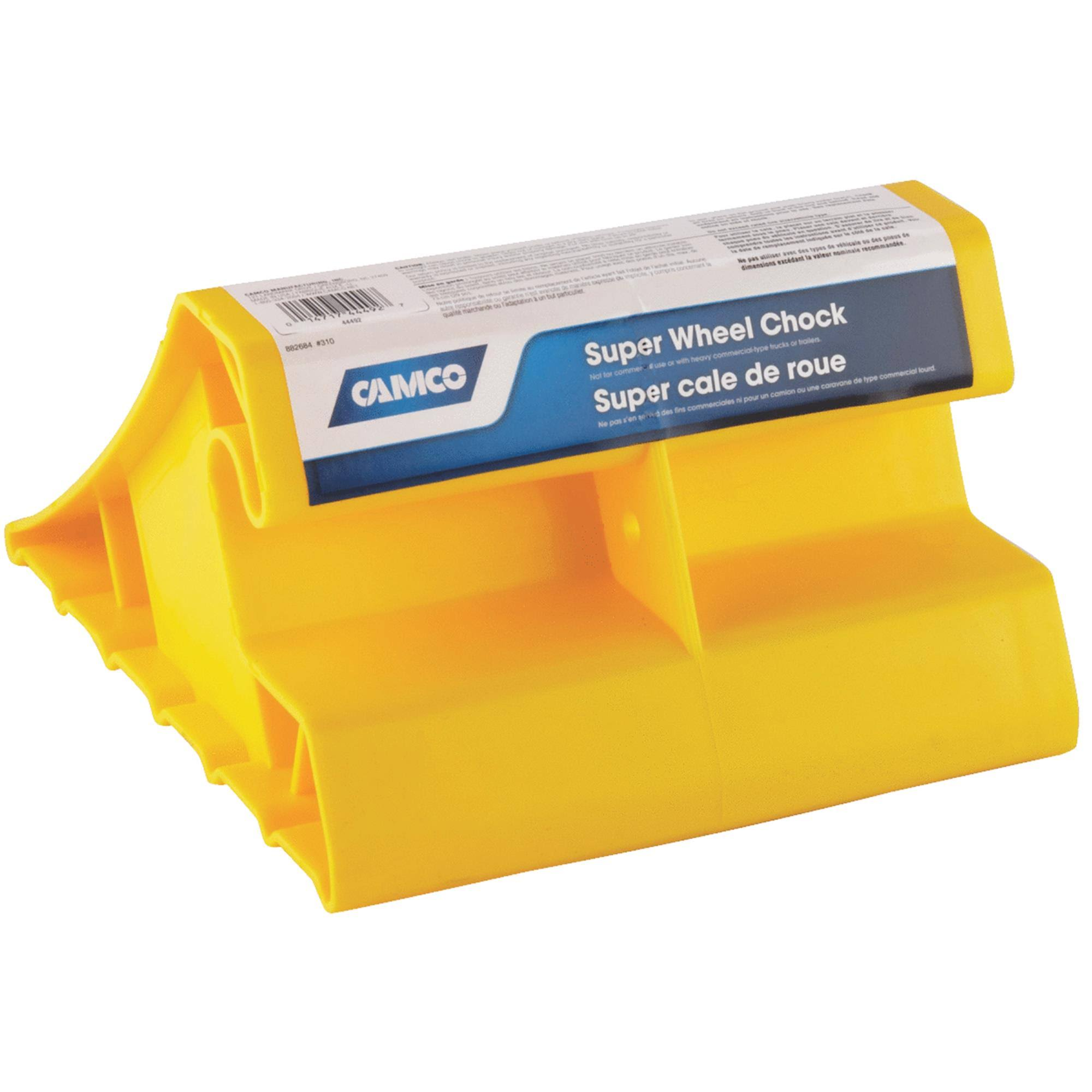 Camco Trailers Super Wheel Chock - Yellow