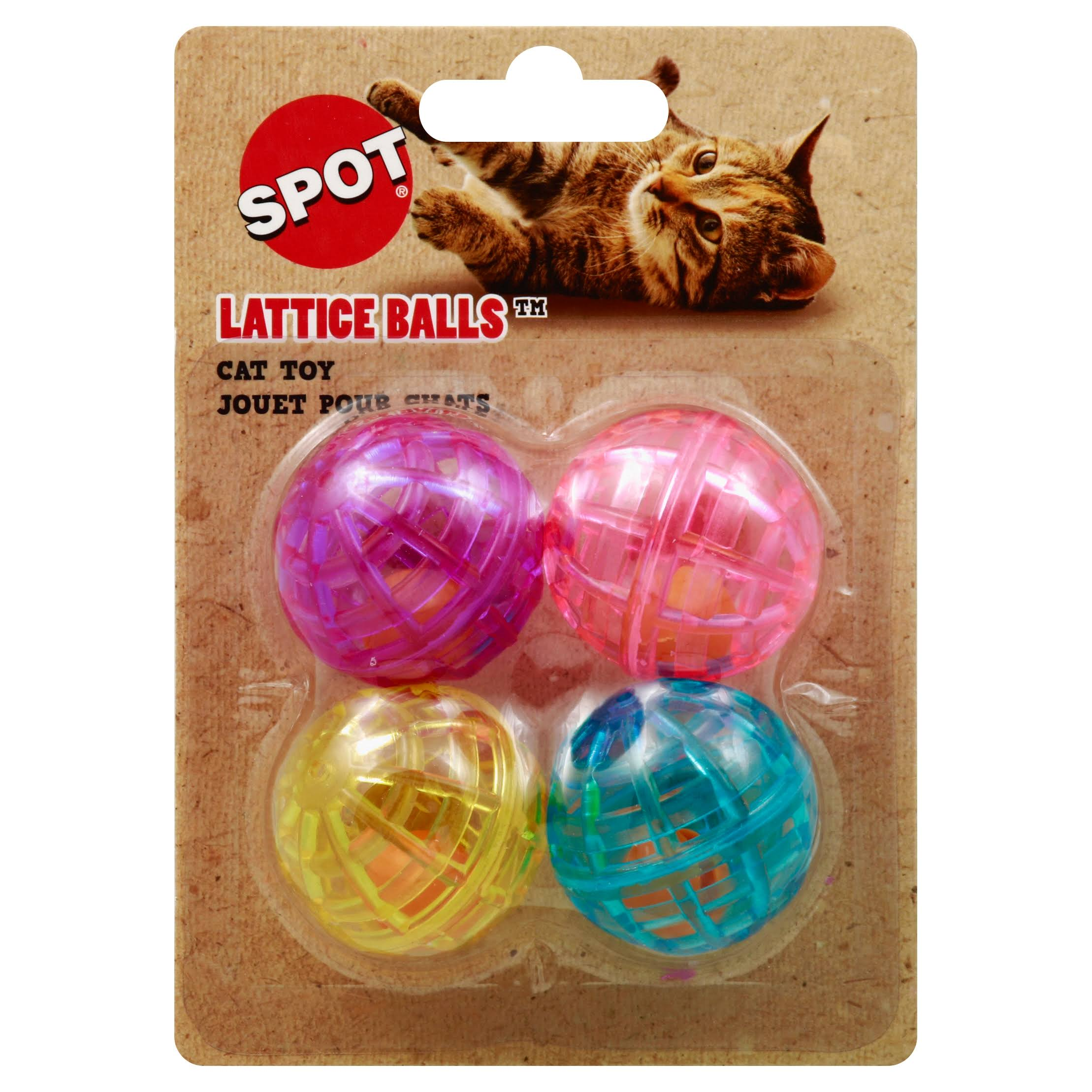 Ethical Lattice Balls, Cat Toy - 4 Pack