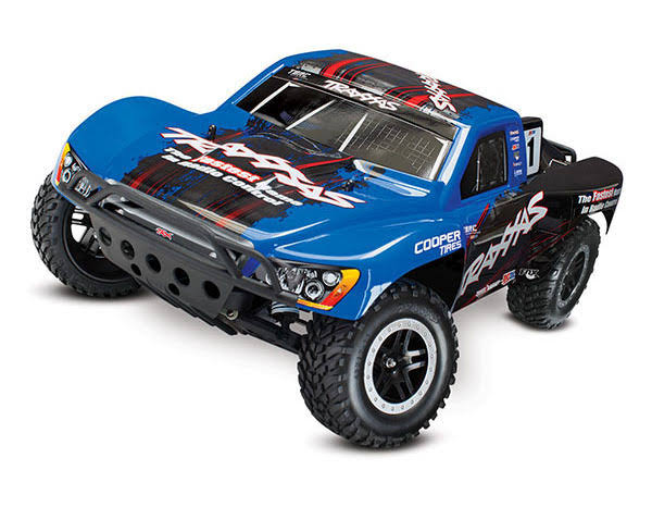 Traxxas Slash 1/10 Scale 2WD Short Course Racing Truck with TQ 2.4GHz Radio and OBA - Blue