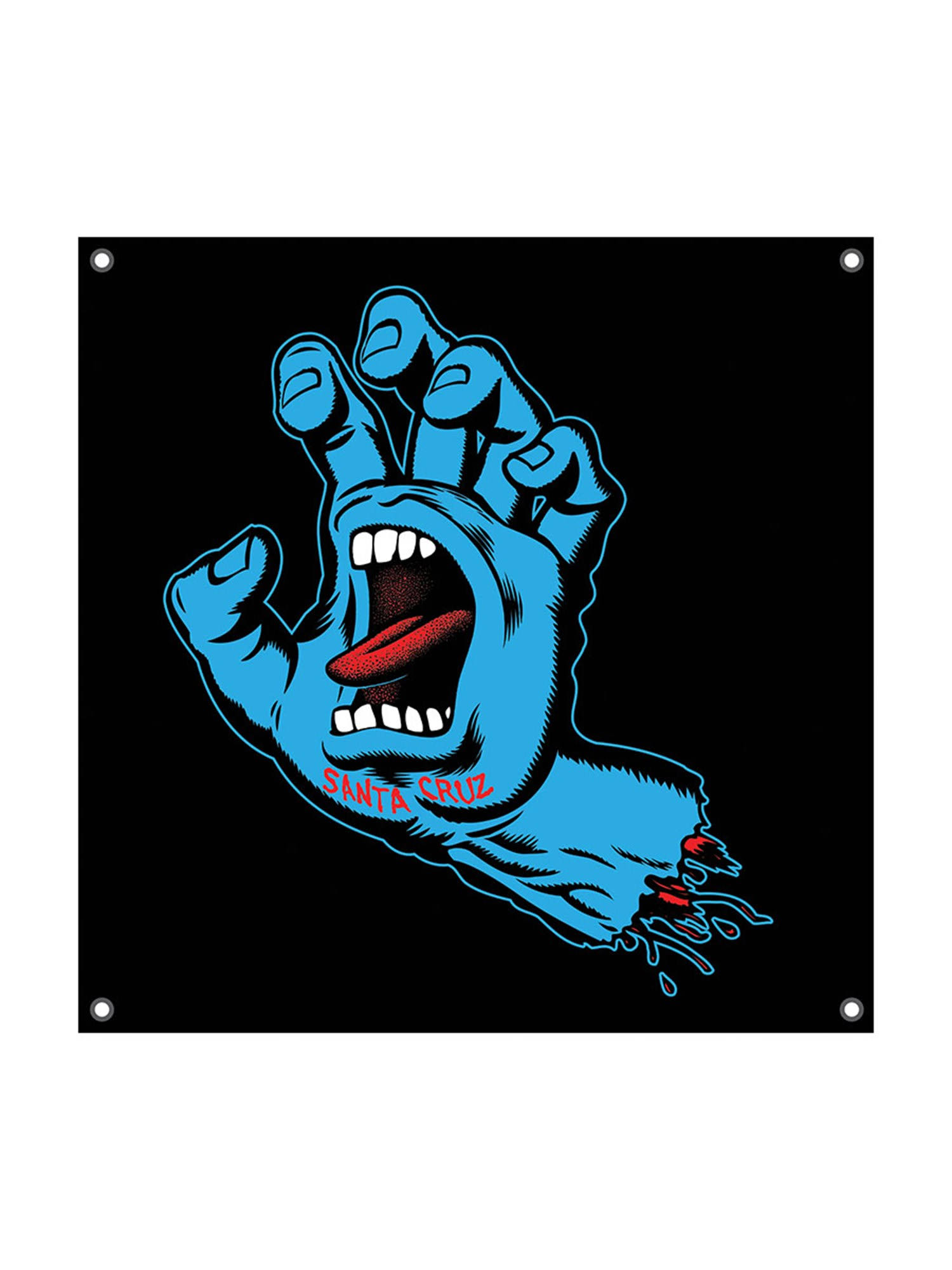 "Santa Cruz Skateboard Shop Banner - Screaming Hand - Vinyl 36"" x 36"""