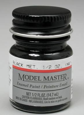 Testors | 1/2 oz Black Metallic | Enamel Paint