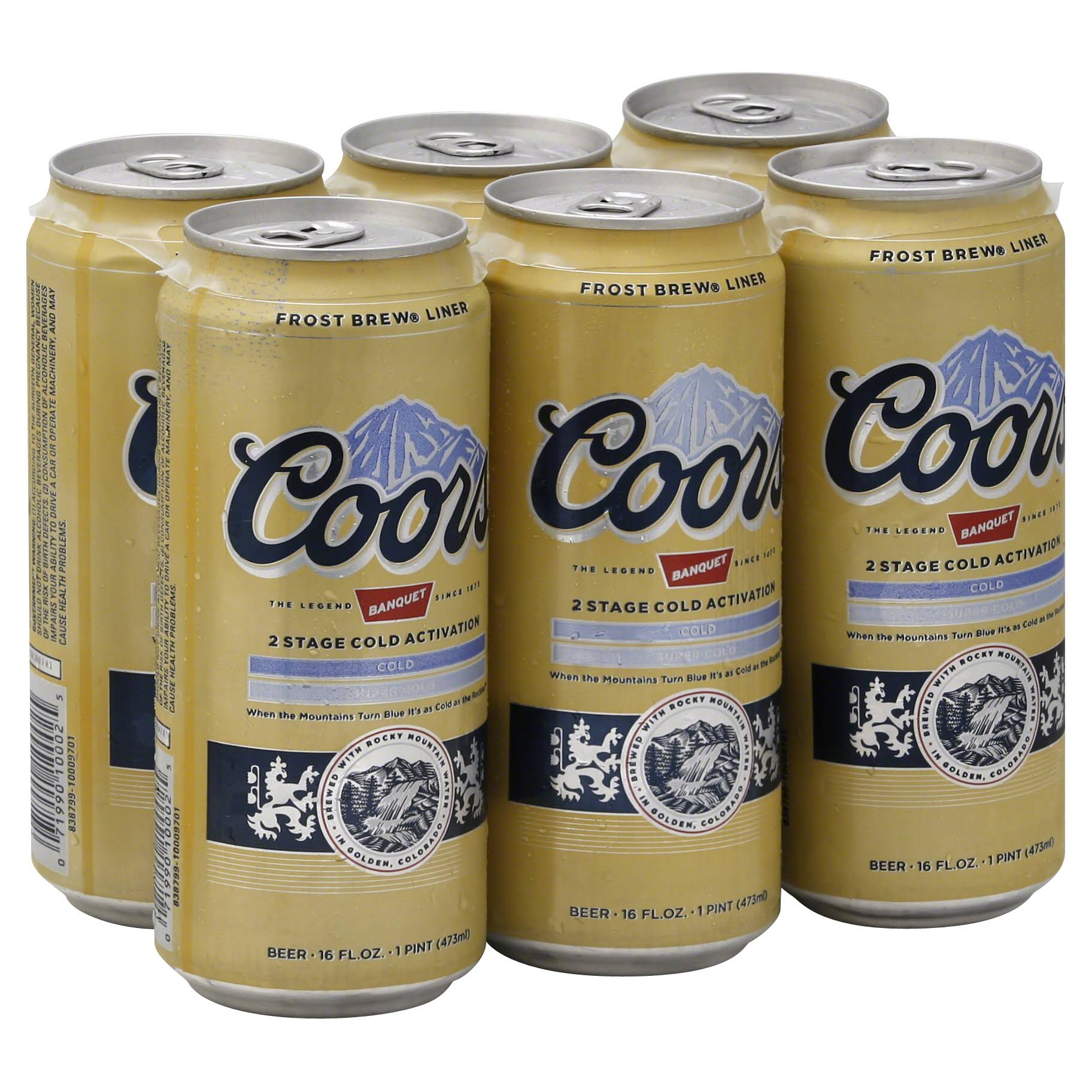 Coors Banquet Beer - 16oz, 6 Pack