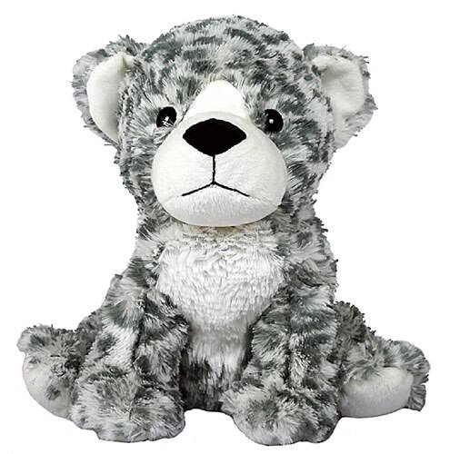 Warmies Cozy Plush Heatable Scented Stuffed Animal - Snow Leopard, Lavender Scent