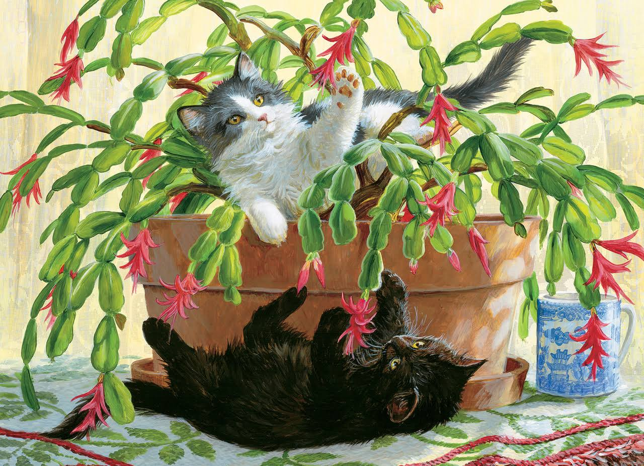 Cobble Hill Cactus Kitties 1000 PC Jigsaw Puzzle Kittens