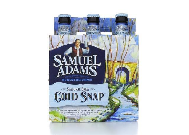 Samuel Adams Beer, Cold Snap, White Ale - 6 pack, 12 oz bottles