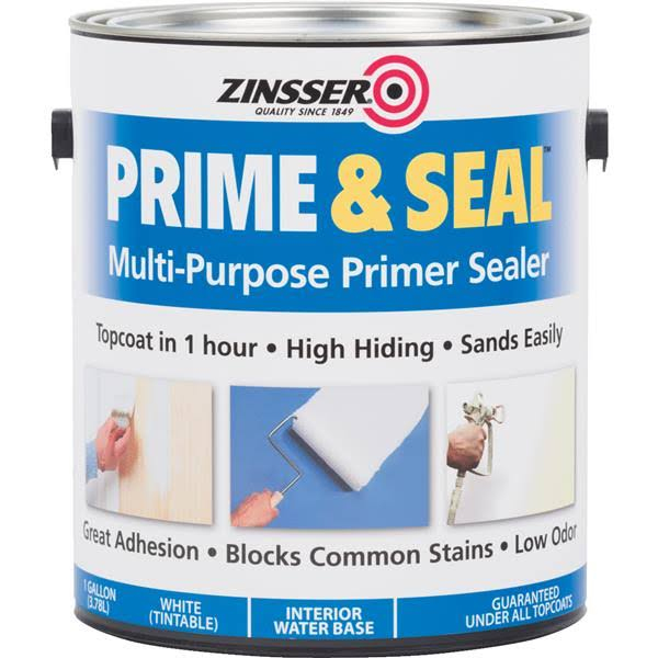 Zinsser Prime & Seal Interior Prime Seal Water-Based Stain Blocking Primer - White, 2gal