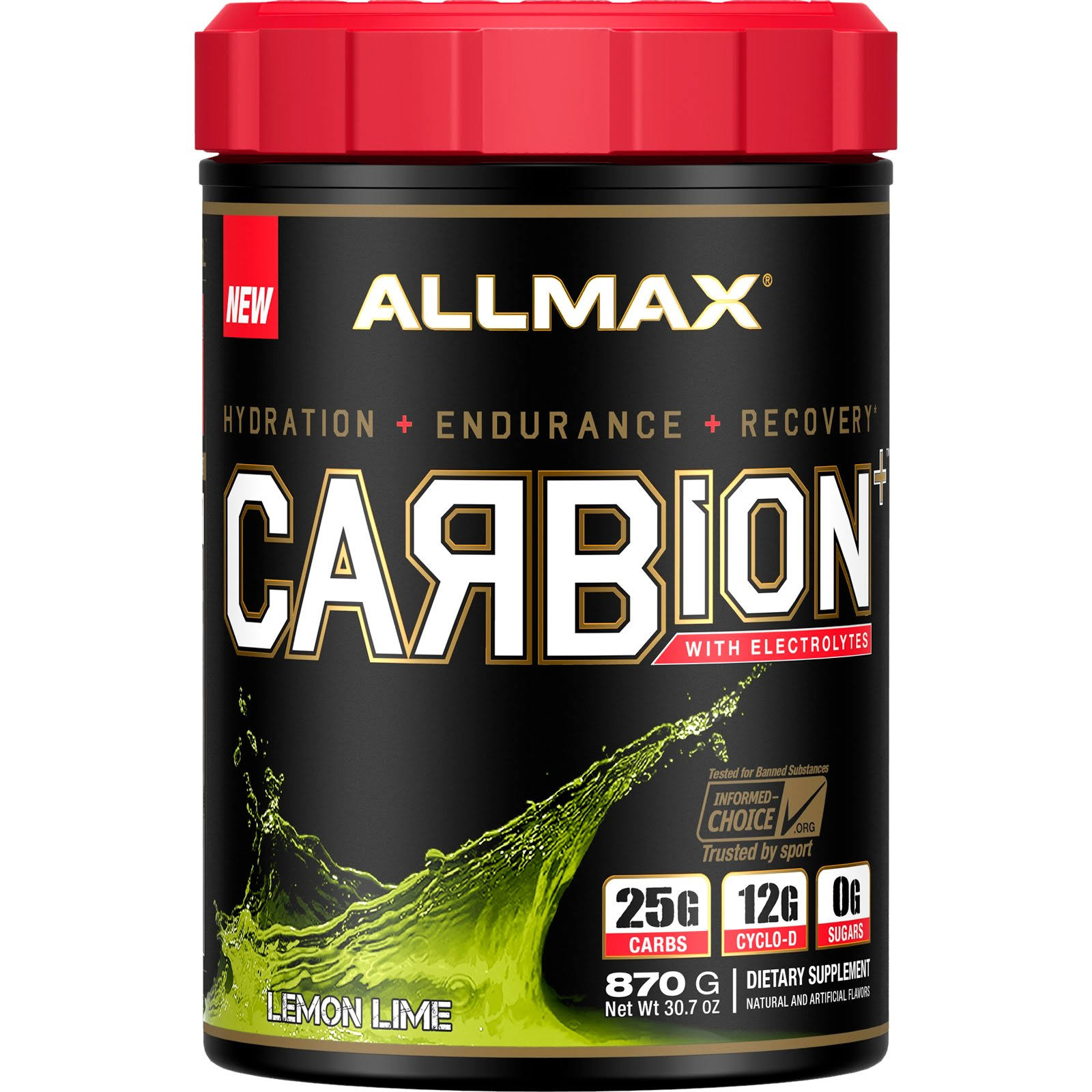 Allmax Nutrition Carbion 2 lbs - Lemon Lime