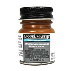 Testors Model Master Acrylic Paint Bottle - 4707 Earth Red, 1/2oz