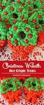 Rice Krispie Christmas Tree Cake by Christmas Wreath Rice Krispie Treats Two Sisters Crafting