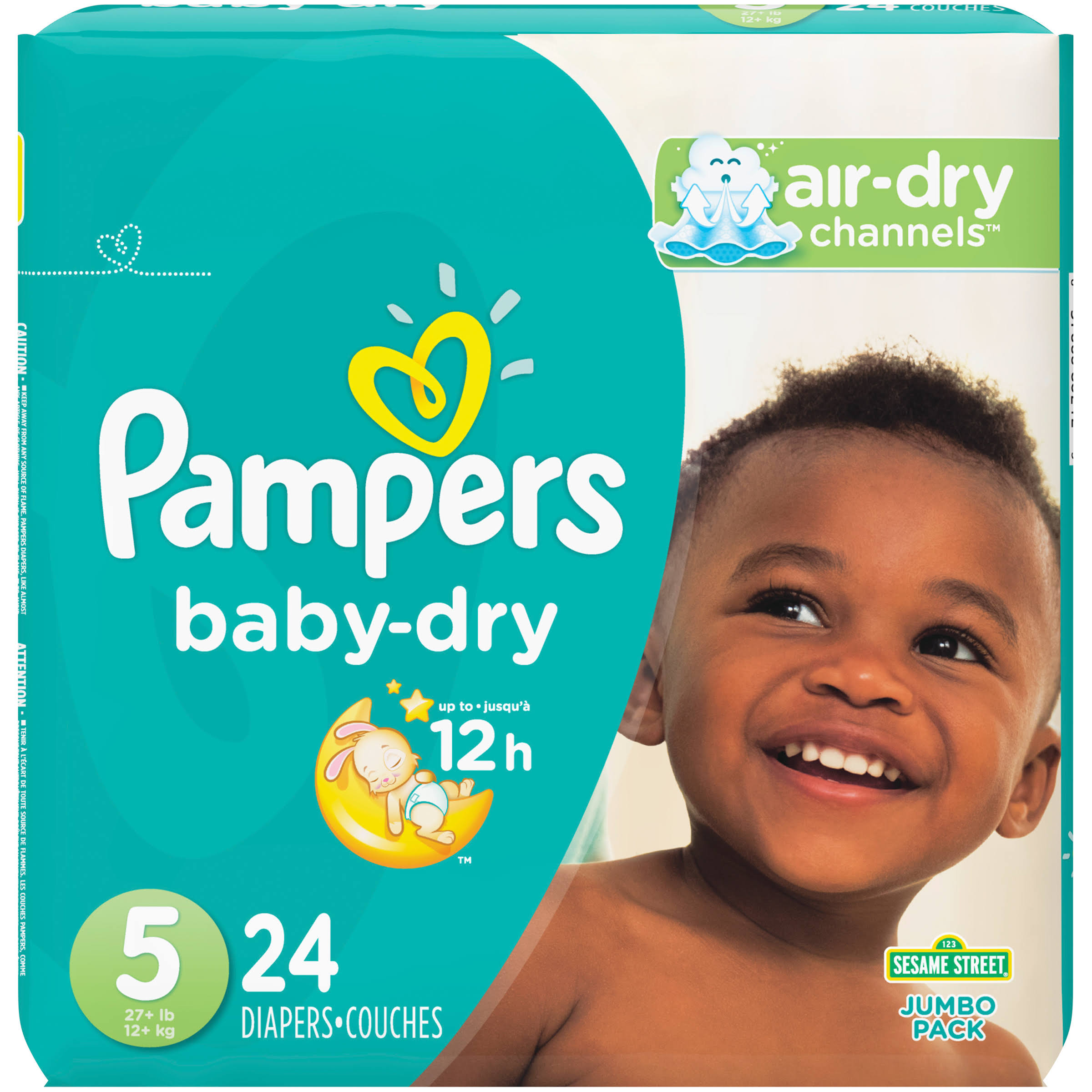 Pampers Baby Dry Diapers - Size 5, 24ct