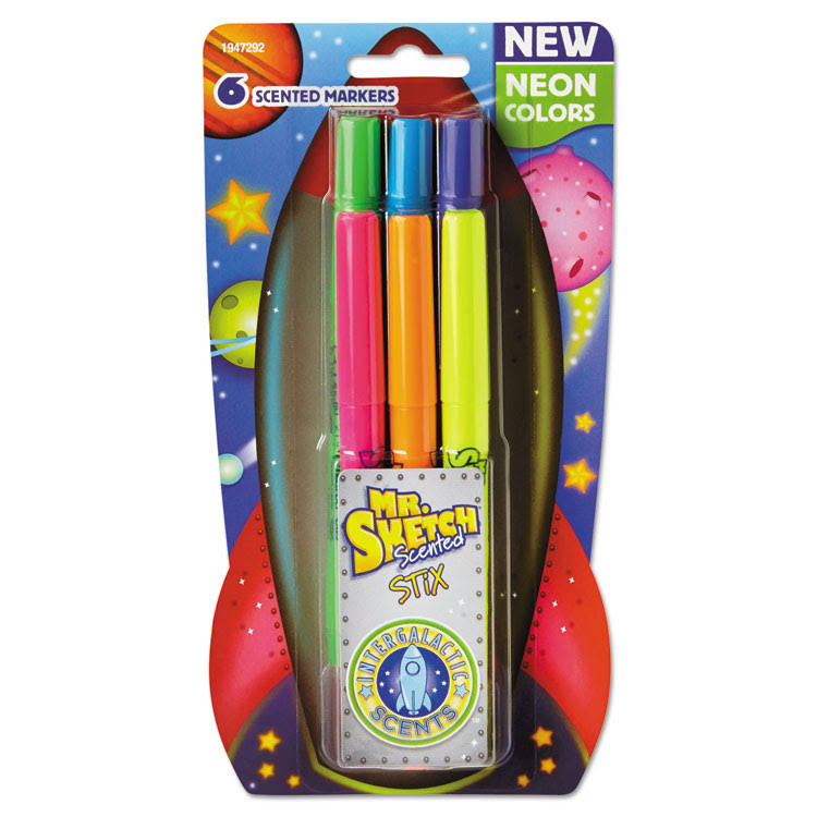Mr Sketch 1947292 Scented Stix Markers - 6ct