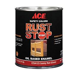 Ace Rust Stop Enamel Paint - Safety Red, 32oz