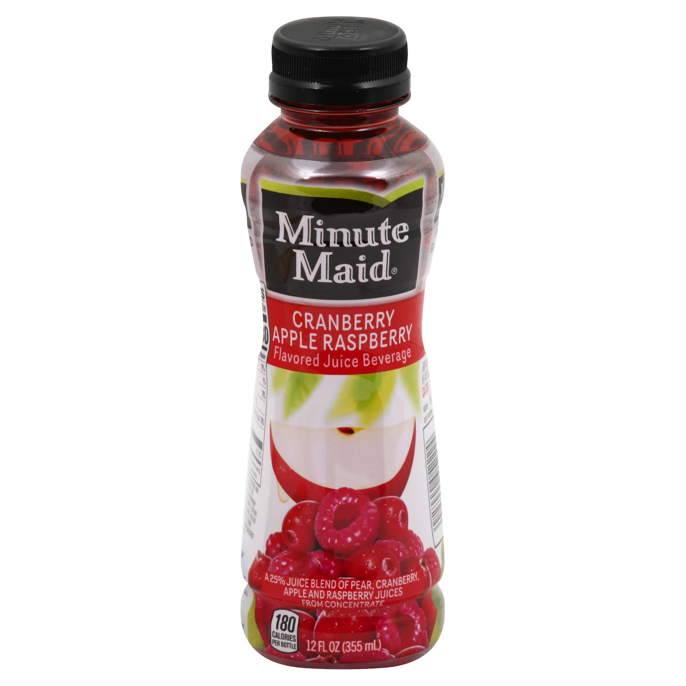 Minute Maid Juice Beverage, Flavored, Cranberry Apple Raspberry - 12 fl oz