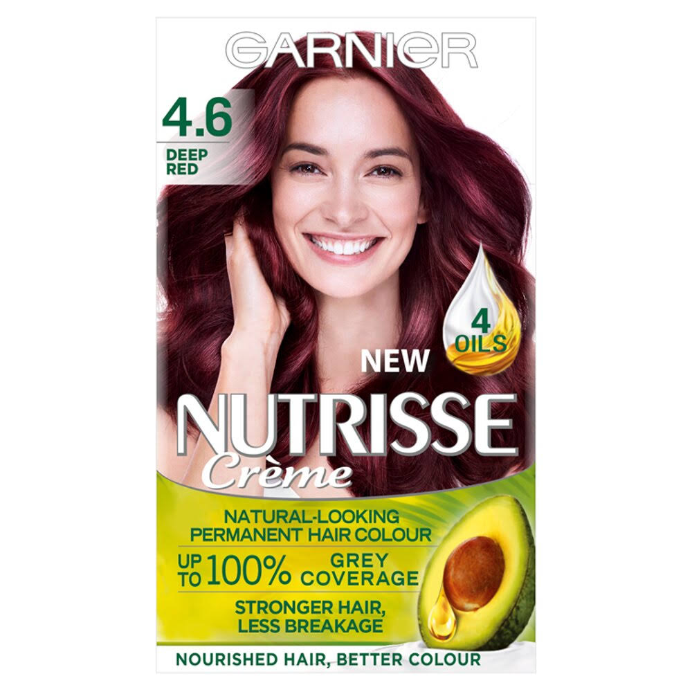 Garnier Nutrisse Permanent Hair Dye - 4.6 Deep Red