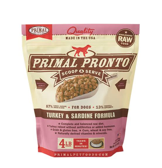 Primal Pet Food Primal Ponto Dog Food - Turkey & Sardine