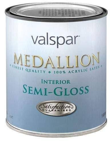 Valspar 27-2408 qt 1 Quart Custom White Medallion 100% Acrylic Interior Paint Semi Gloss