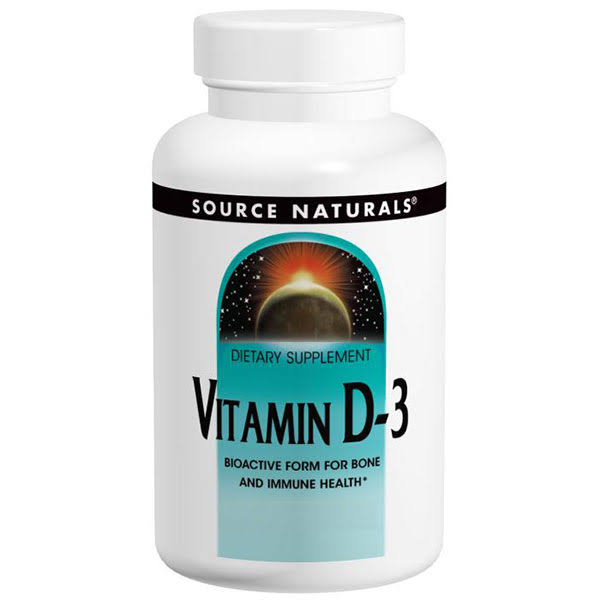 Source Naturals Vitamin D-3 1000 IU Tablets - x200