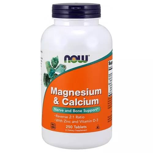 Now Foods Magnesium & Calcium Tablets - x250