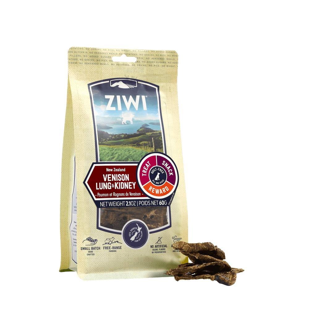 Ziwi Vension Lung & Kidney Dog Treats, 2.1-oz Bag