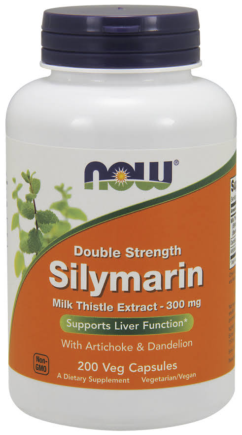 Now Foods Silymarin Milk Thistle Extract 300mg Vegetarian Capsules - x200