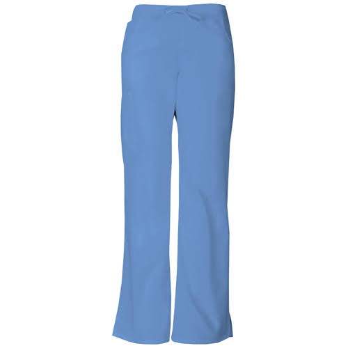Dickies Missy Fit Drawstring Cargo Pant Scrub Bottoms - Ciel Blue, Petite
