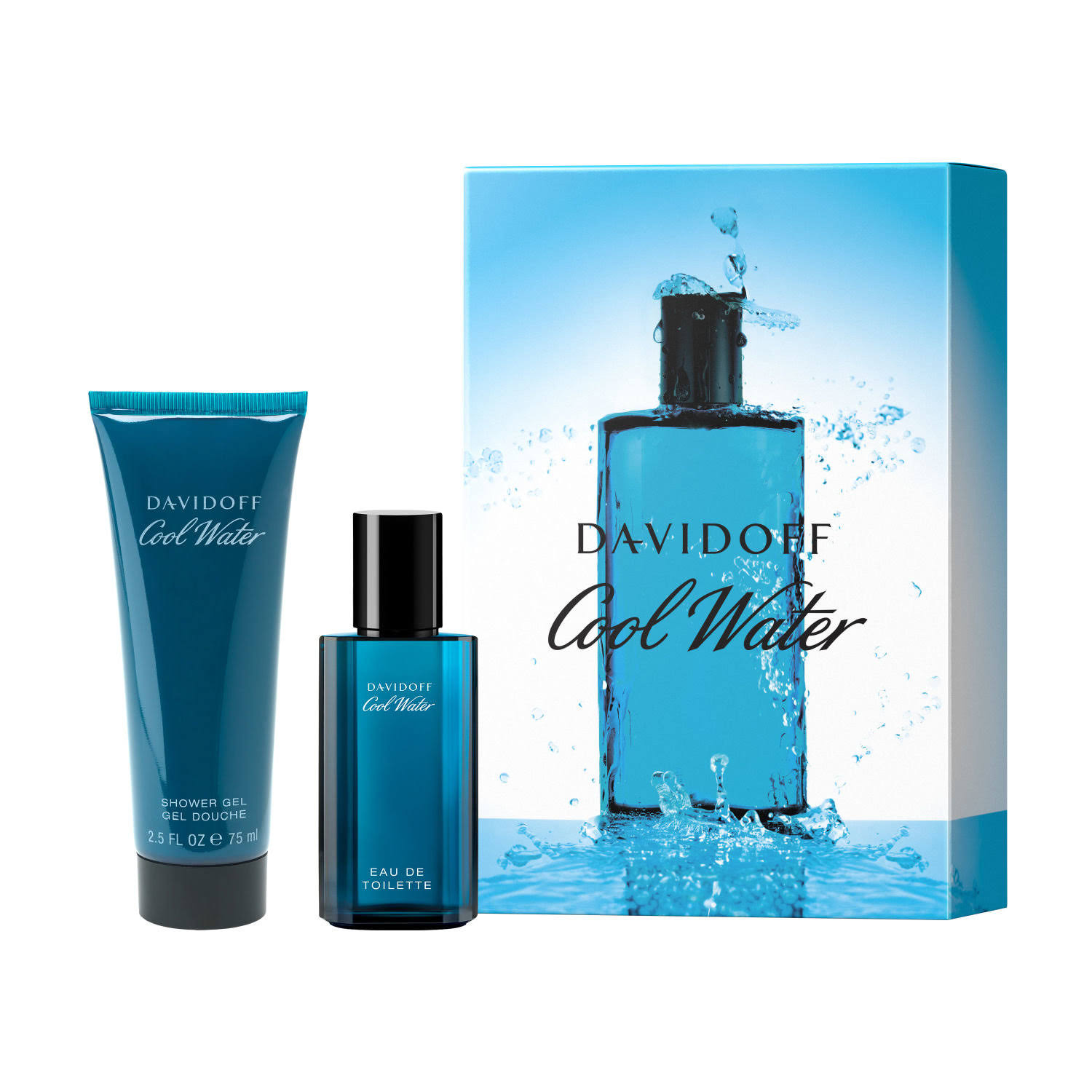 Davidoff Men's Cool Water Eau De Toilette Gift Set - 2pcs