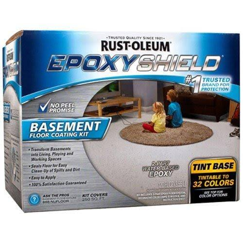 RUST-OLEUM 225446 Epoxy Shield Gallon Tint Base Basement Floor Coating Kit