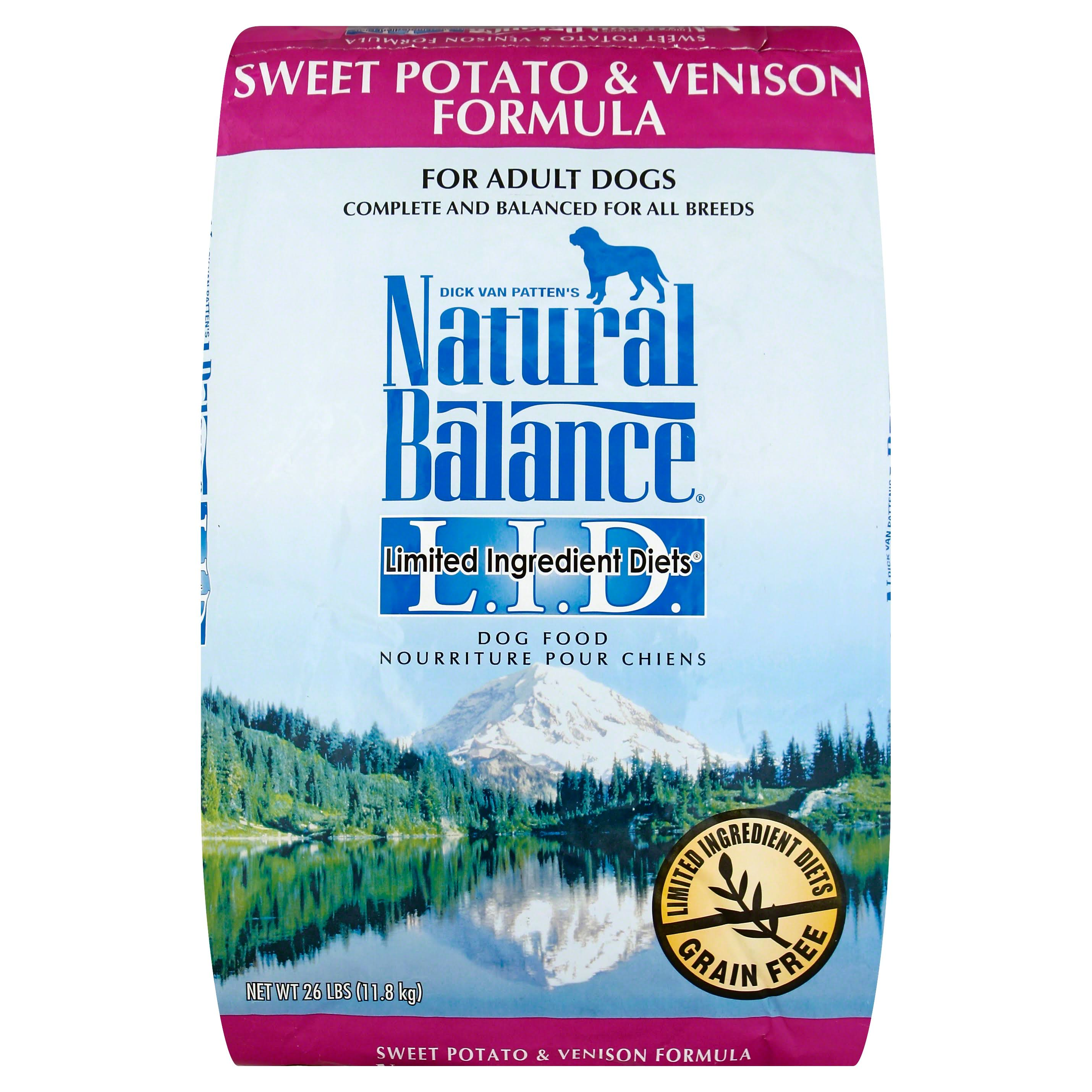 Dick Van Patten's Natural Balance Limited Ingredient Diets Sweet Potato And Venison Formula Dry Dog Food - 26lb