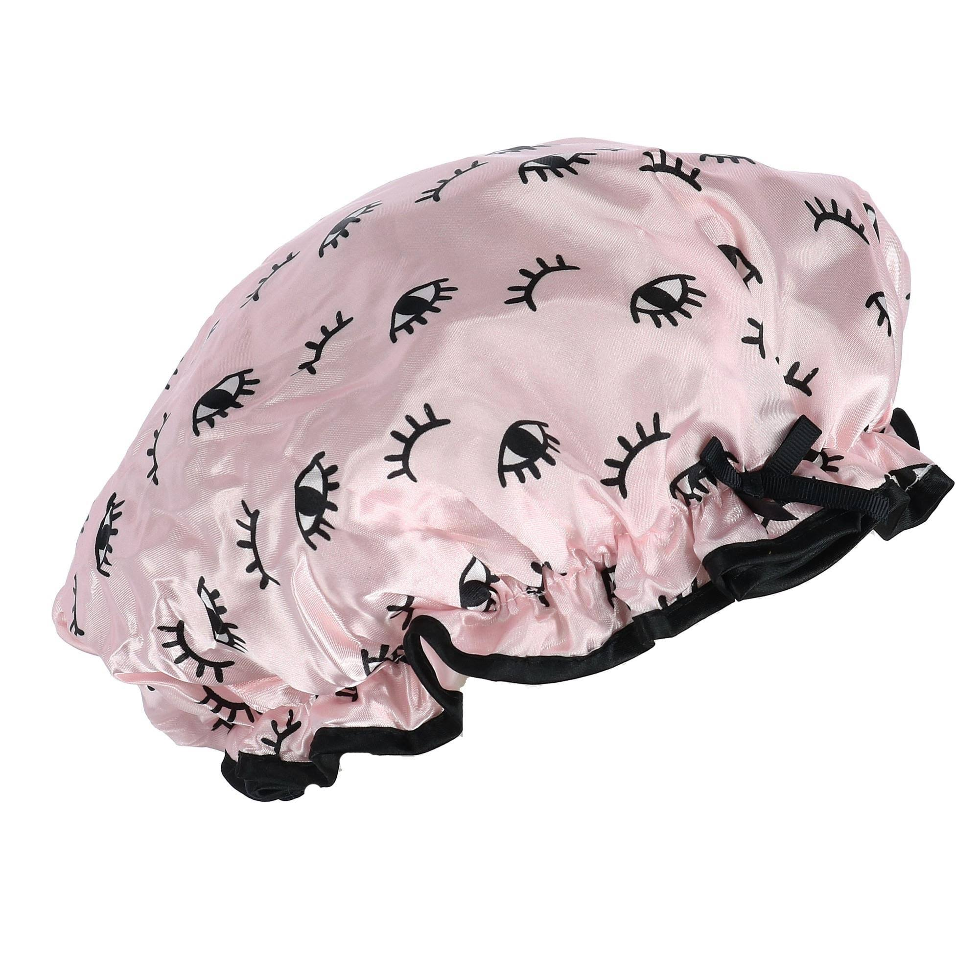 Lemon Lavender Women's Retro Style Shower Cap - Light Pink One Size