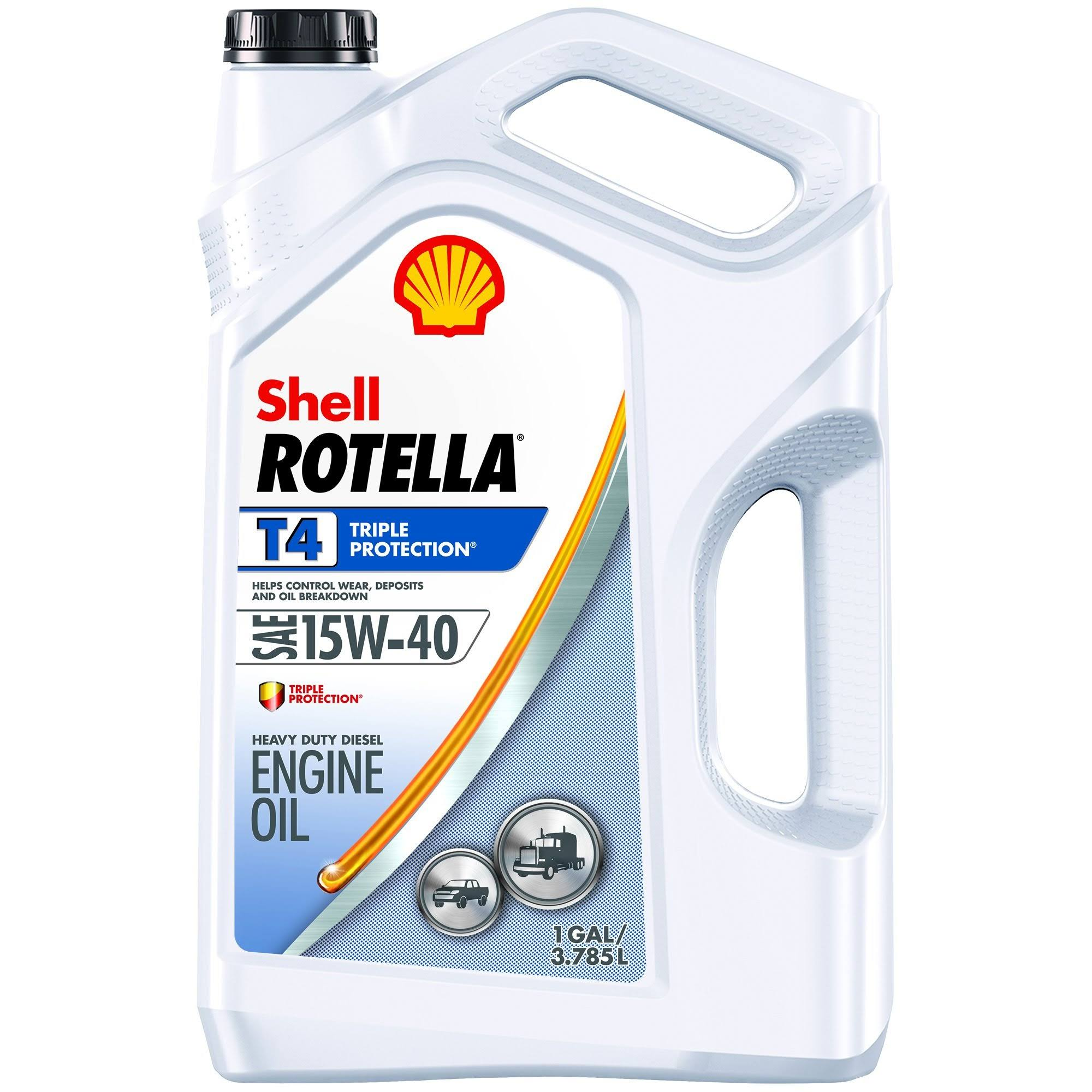 Shell Rotella T4 15W-40 Engine Oil - 3.785l