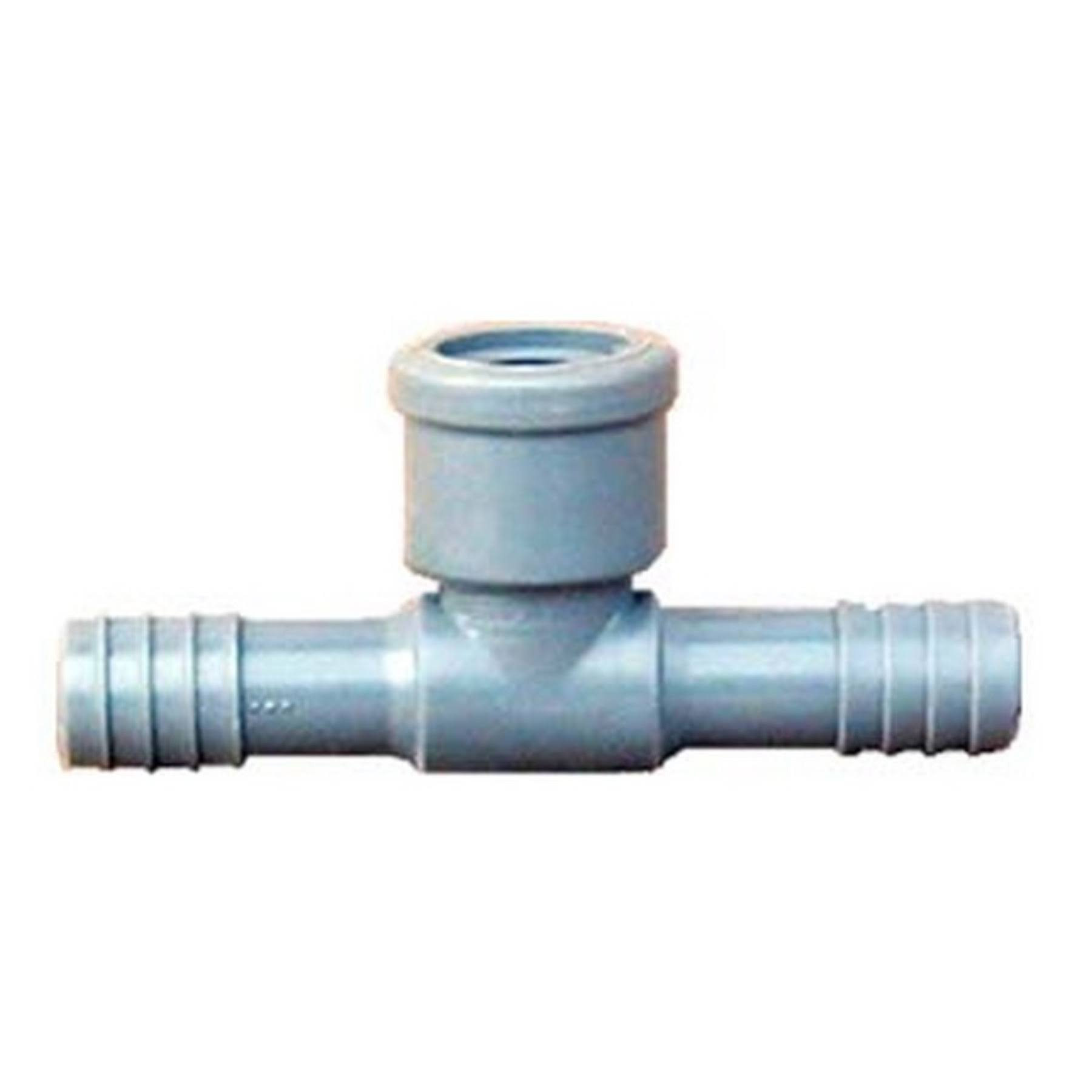 "Genova Tee Plastic Coil Fittings - 1/2"" Dia"