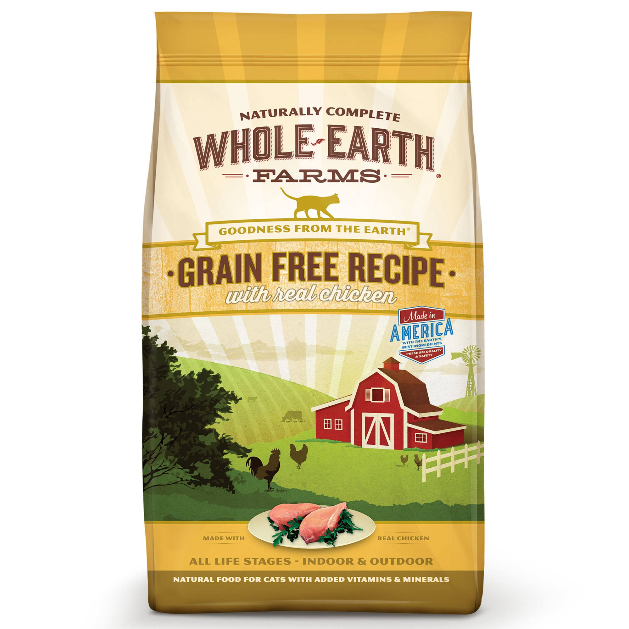 Whole Earth Farms Grain Free Recipe Dry Cat Food - Chicken, 5lbs