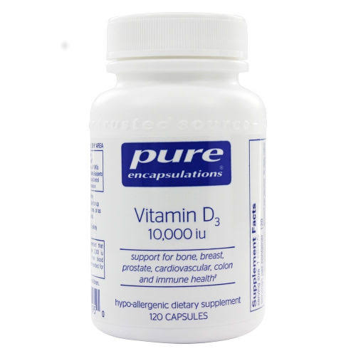Pure Encapsulations Vitamin D3 Dietary Supplement - 10000IU, 120ct