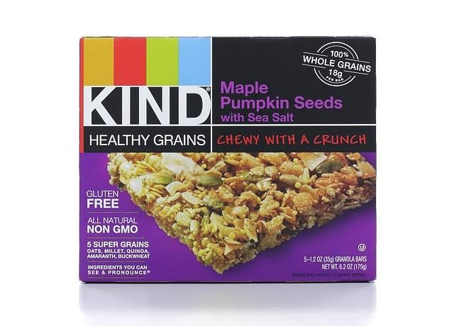 Kind Healthy Grains Granola Bar - Maple Pumpkin Seeds With Sea Salt, 5 Granola Bars, 175g