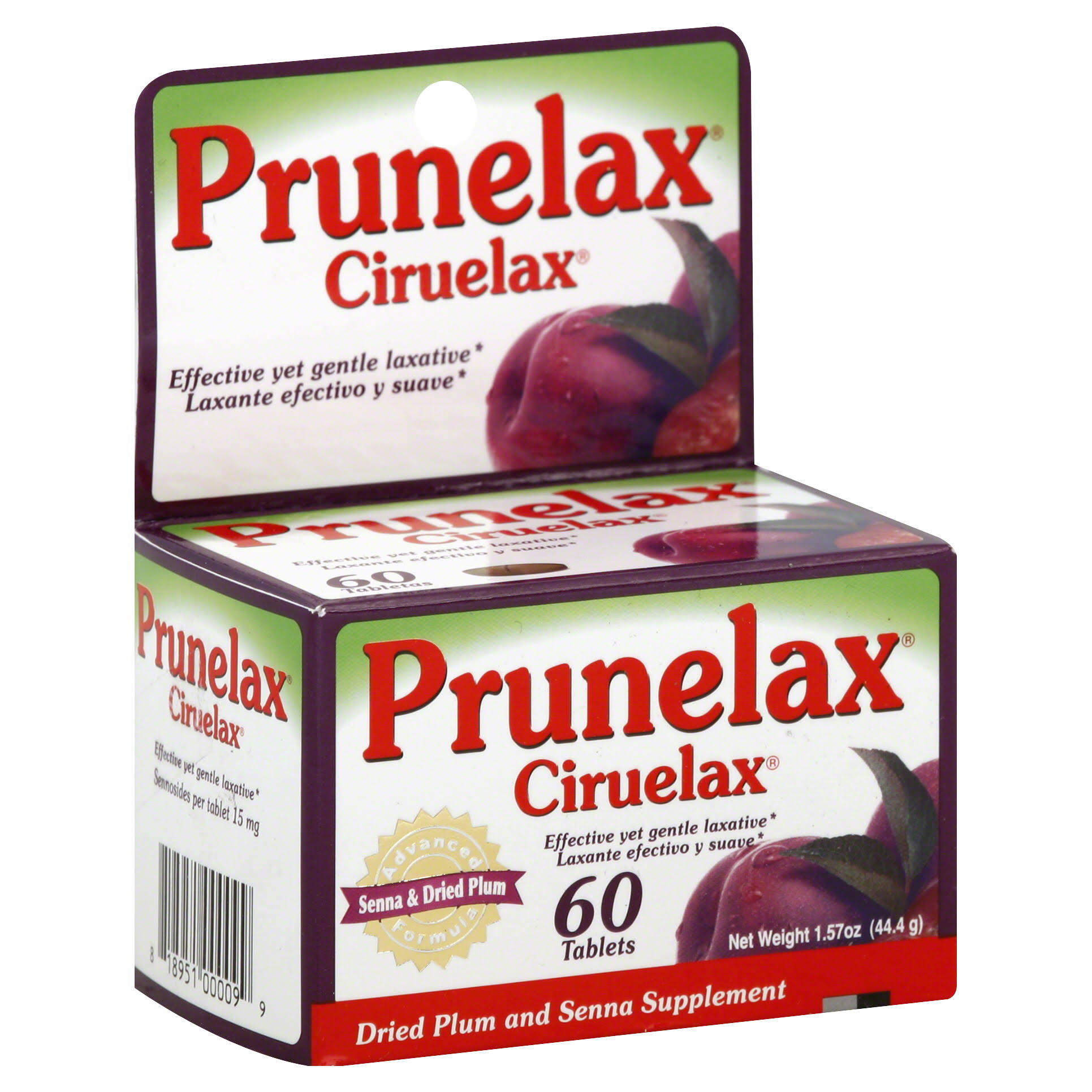 Prunelax Ciruelax Tablets - 60ct