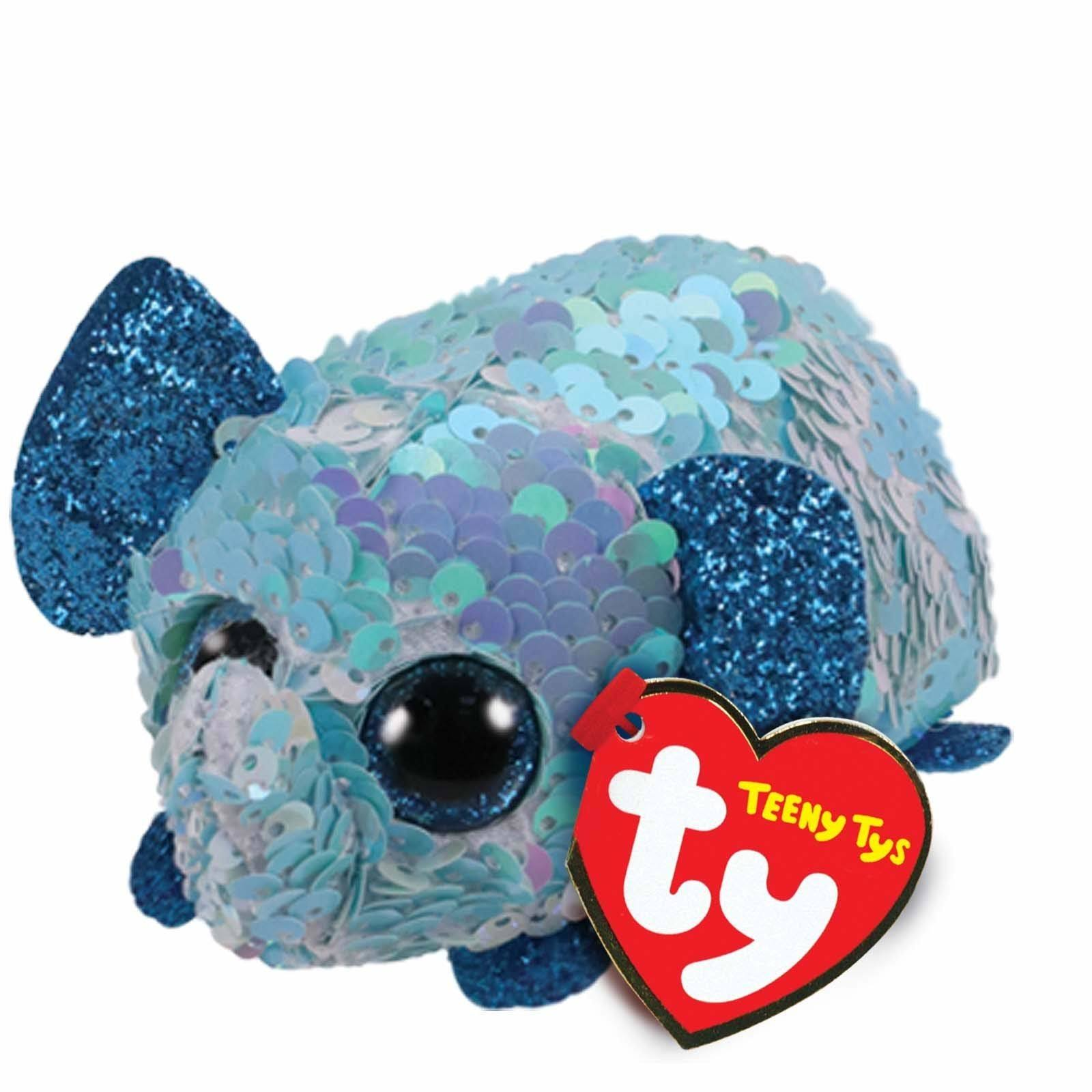 Ty Beanie Boos Teeny Tys Stackable Sequin Plush Stuart The Elephant