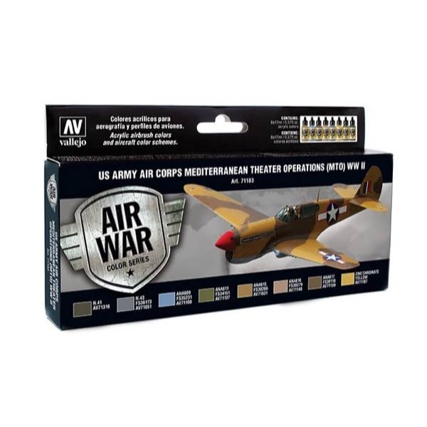 Vallejo Model Air Set: US Army Corps Mediterranean Theater WWII