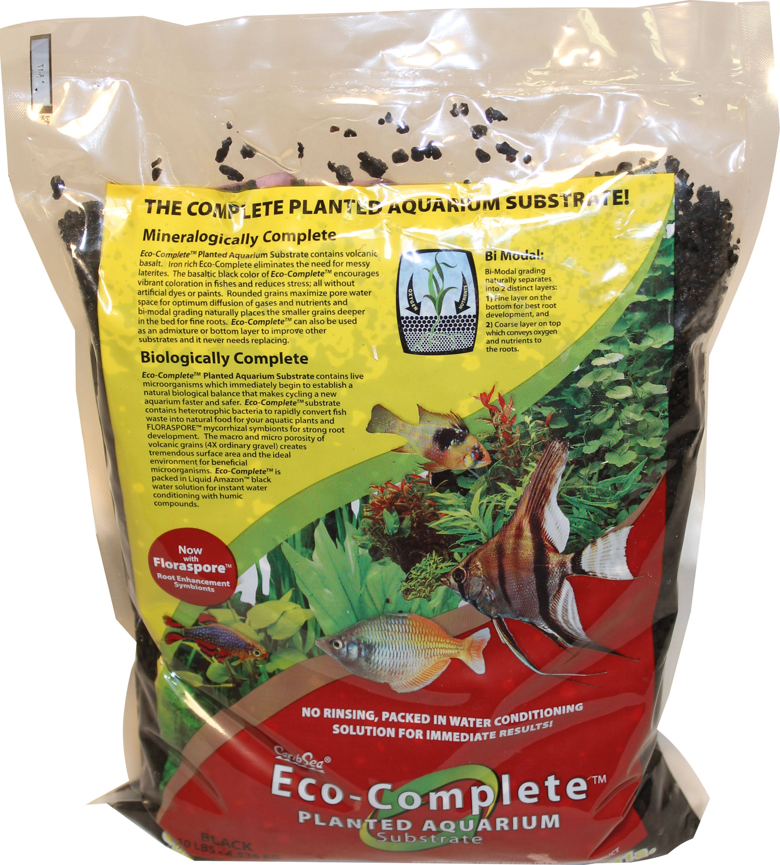 Caribsea Black Eco Complete Planted Substrate 10 lb