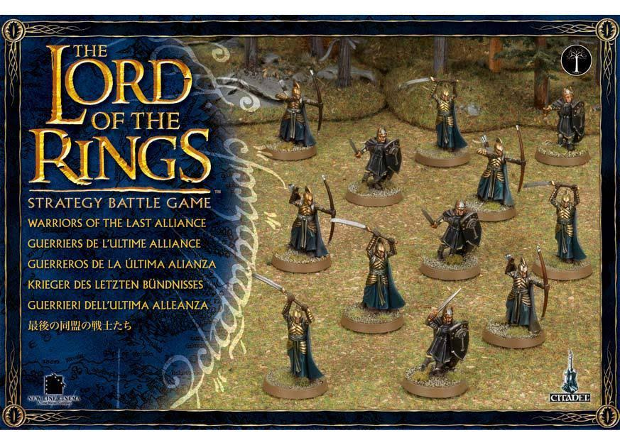 The Lord of the Rings Warriors of the Last Alliance Miniature Set