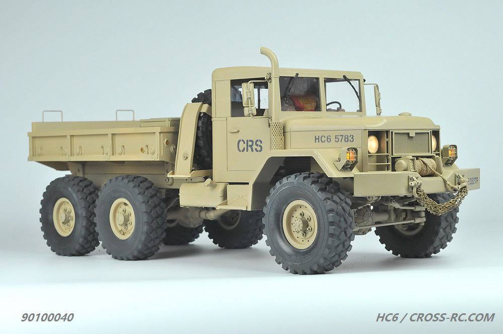 Cross RC CZRHC6 6 x 4 in. HC6 1-10 Scale Off Road Military Truck Kit
