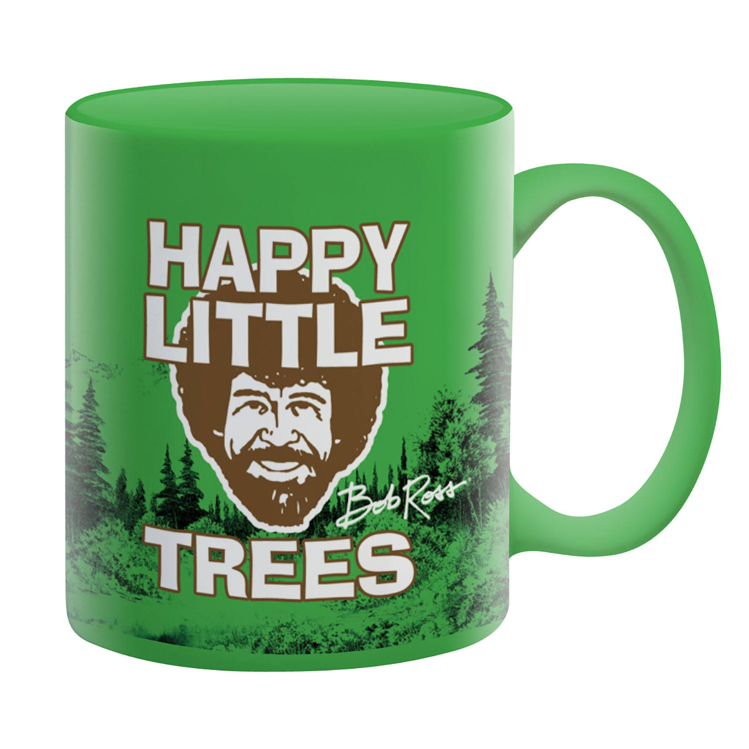 Aquarius Bob Ross Happy Little Trees Mug