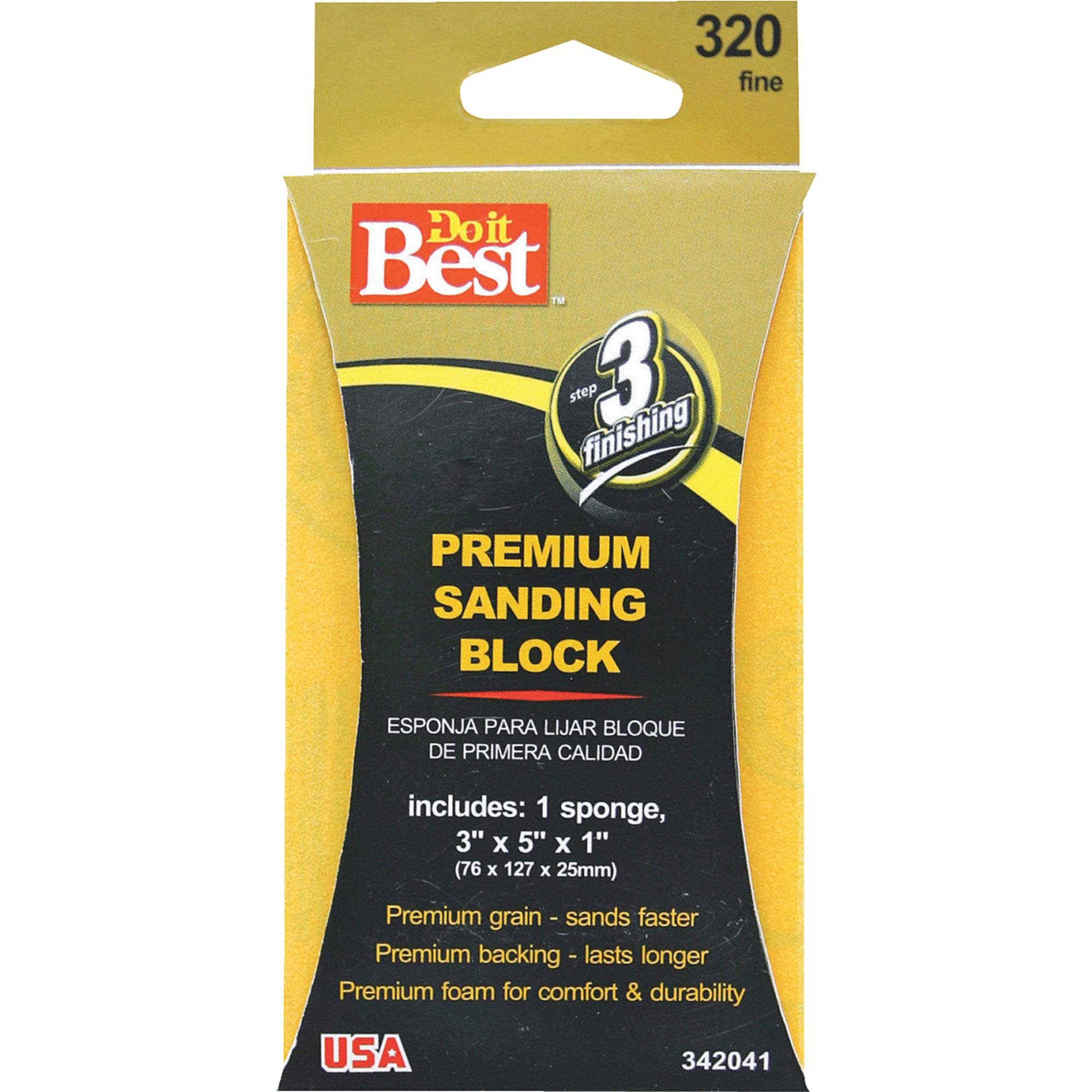 "Do it Best Premium Plus Sanding Sponge - 3"" x 5"" x 1"""