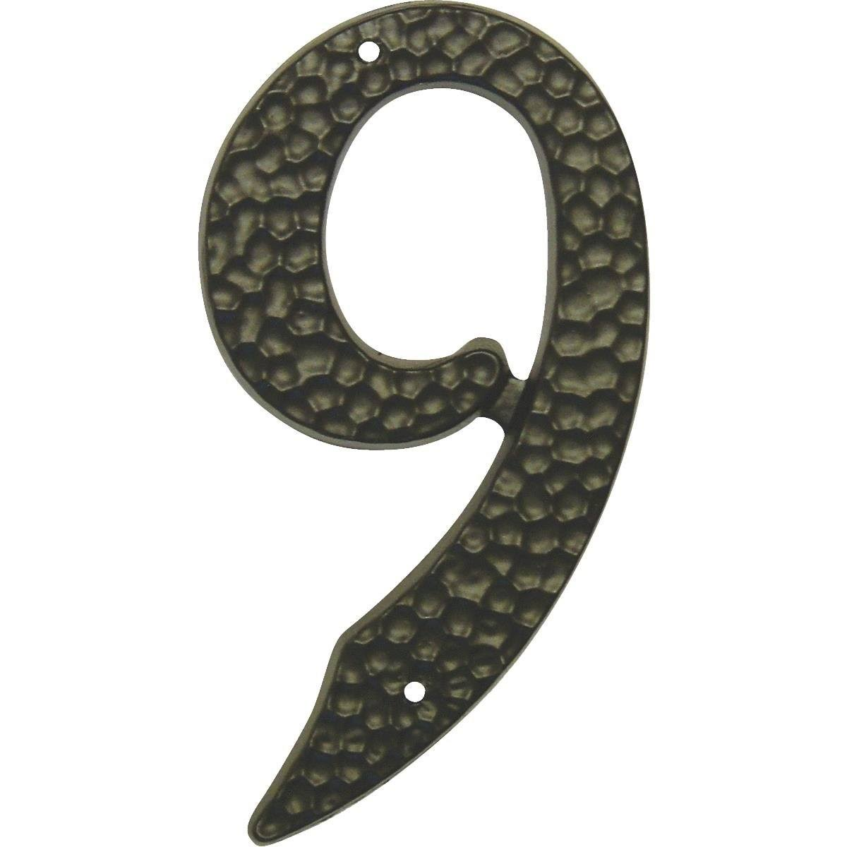 Hy-Ko Products House Number - 9, Black, 3-1/2""